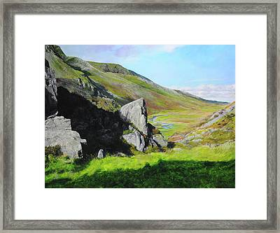Down The Valley Framed Print by Harry Robertson
