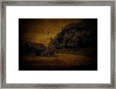 Down The Way Framed Print by Valmir Ribeiro