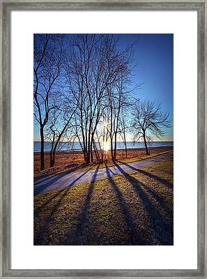 Framed Print featuring the photograph Down This Way We Meander by Phil Koch