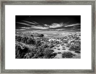 Down Thru The Canyon Framed Print