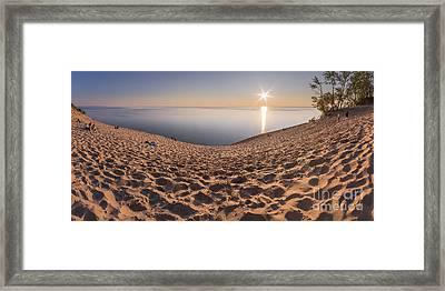 Down To Lake Michigan Framed Print