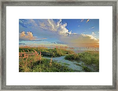 Down To The Beach 2 - Florida Beaches Framed Print