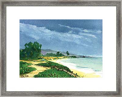 Down To The Beach Framed Print by Ray Cole