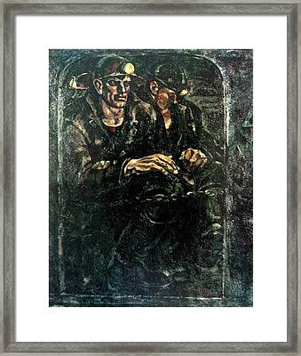 Down To The Coal-face Framed Print