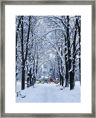Down To The Park Framed Print by Rae Tucker