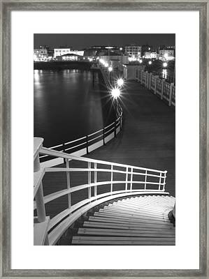 Down To The Pier Framed Print
