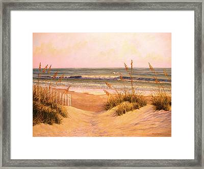 Down To The Sea Framed Print by Elaine Bigelow