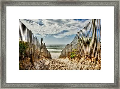 Down To The Seashore Framed Print