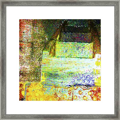 Framed Print featuring the mixed media Down by Tony Rubino