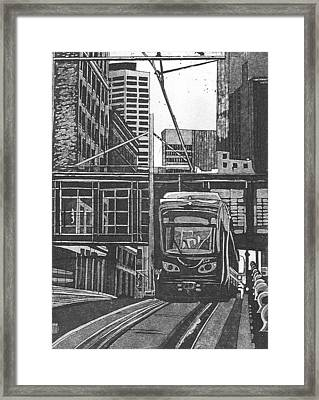 Down Town Framed Print by Jude Labuszewski