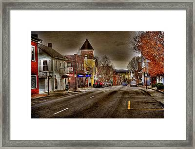 Down Town Lexington Va Framed Print by Todd Hostetter