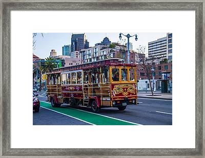 Down Town Trolly Car Framed Print by Brian Williamson