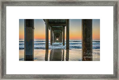 Down Under Scripp's Pier  Framed Print