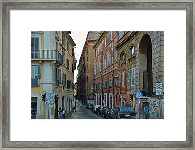 Down Via Giulia Framed Print by JAMART Photography