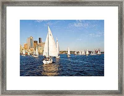 Down Wind Run Framed Print by Tom Dowd