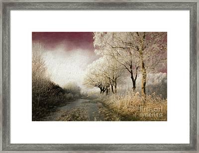 Down Winter Road Framed Print