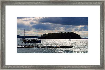 Downeast Reflections Framed Print by Steven Scott