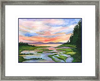 Downeast Sundown Framed Print by Ernestine Grindal