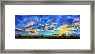 Downeast Sundown Framed Print