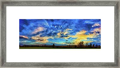 Downeast Sunset Cloudscape Framed Print by ABeautifulSky Photography