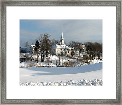 Downeat Maine 4 Framed Print by Cat Encio