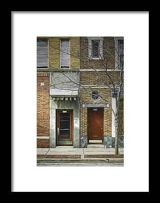 Brick Sidewalks Framed Prints