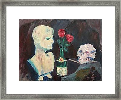 Downfall Of A Man Framed Print by Suzanne  Marie Leclair