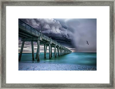 Downpour- Pensacola Beach Framed Print by Brent Shavnore