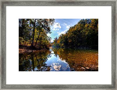 Framed Print featuring the photograph Downriver At Ozark Campground by Michael Dougherty