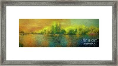 Downriver Glow Framed Print