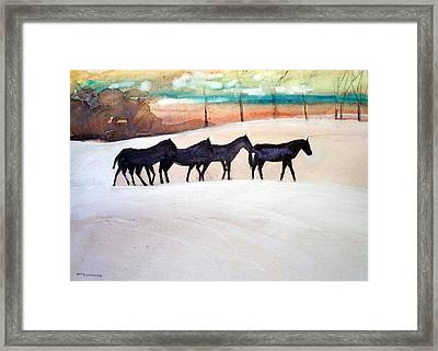 Downs Stables Framed Print