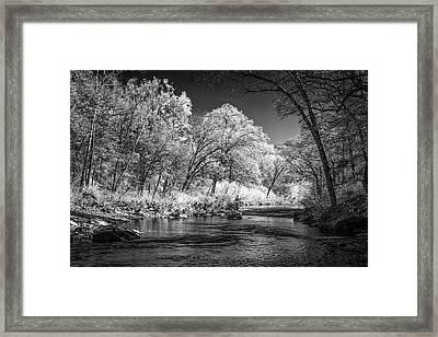Downstream At Natural Dam Framed Print by James Barber