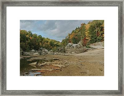 Downstream From Cumberland Falls Framed Print