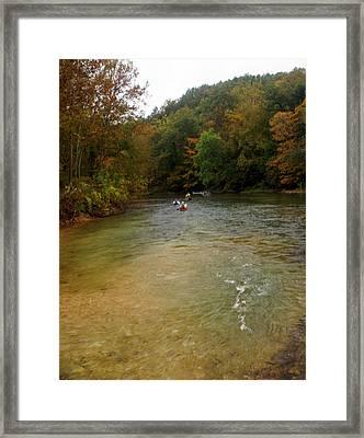 Downstream Framed Print