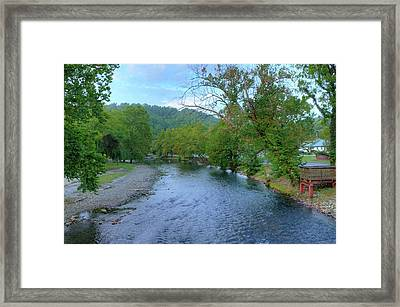 Downstream Framed Print