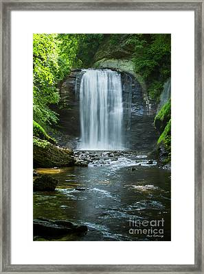 Framed Print featuring the photograph Downstream Shade Looking Glass Falls Great Smoky Mountains Art by Reid Callaway