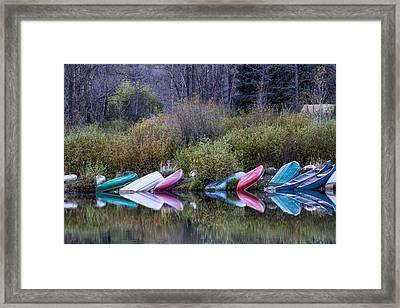 Downtime At Beaver Lake Framed Print