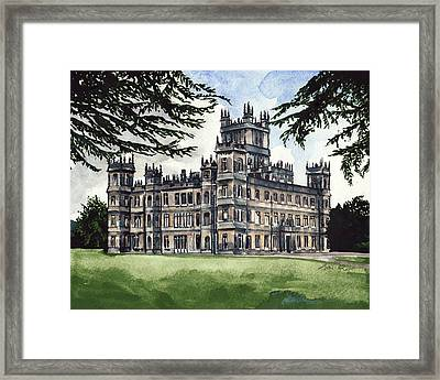 Downton Abbey Estate Highclere Castle Framed Print by Laura Row