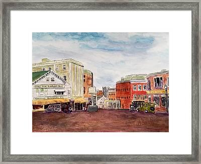 Downtown Amesbury Ma Circa 1920 Framed Print