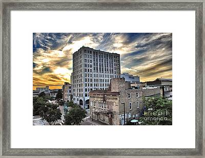 Downtown Appleton Skyline Framed Print by Mark David Zahn