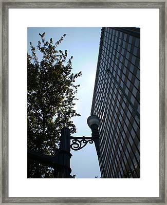 downtown Asheville Framed Print by Utopia Concepts