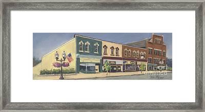 Downtown Ashland Ohio Framed Print by Terri  Meyer