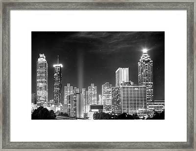 Downtown Atlanta Skyline Framed Print