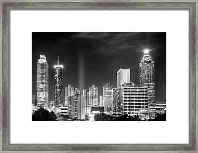 Downtown Atlanta Skyline Framed Print