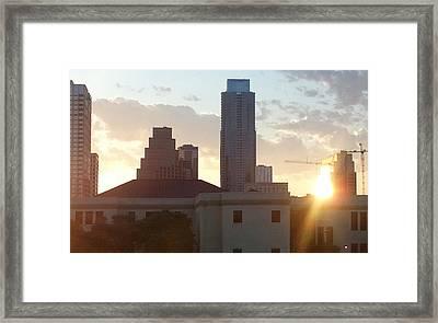 Downtown Austin Framed Print