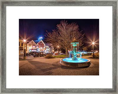 Downtown Bar Harbor Framed Print