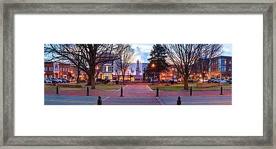 Downtown Bentonville Arkansas Town Square Panoramic  Framed Print