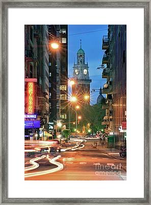 Framed Print featuring the photograph Downtown by Bernardo Galmarini