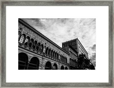 Downtown Birmingham In Monochrome Framed Print by Shelby  Young