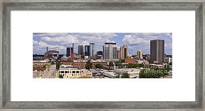 Downtown Birmingham Skyline Framed Print by Jeremy Woodhouse